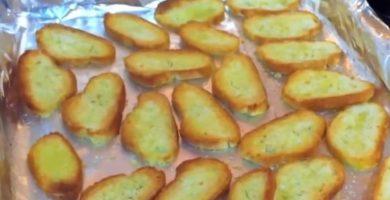 pan tostado al horno