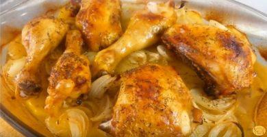 receta pollo al horno facil